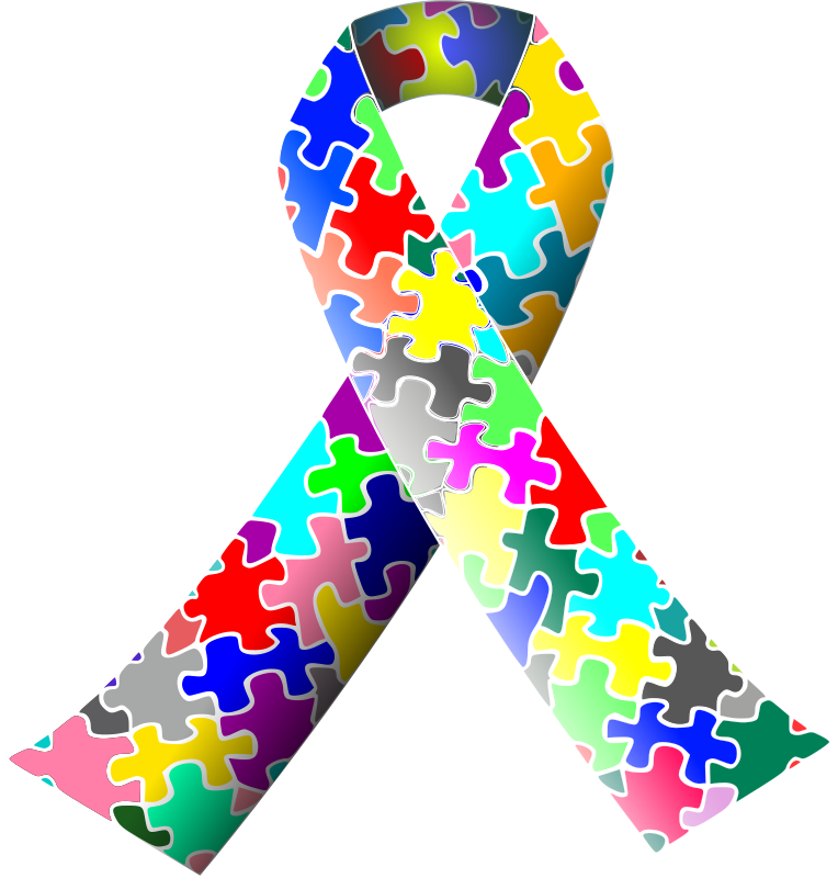 Puzzle Ribbon Autism from https://openclipart.org/detail/58171/autism-puzzle-ribbon